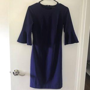 Banana Republic Purple Bell-Sleeve dress